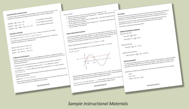 Sample Instructional Materials Nat 5 A