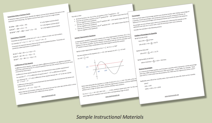 Sample Instructional Materials Nat 5 A